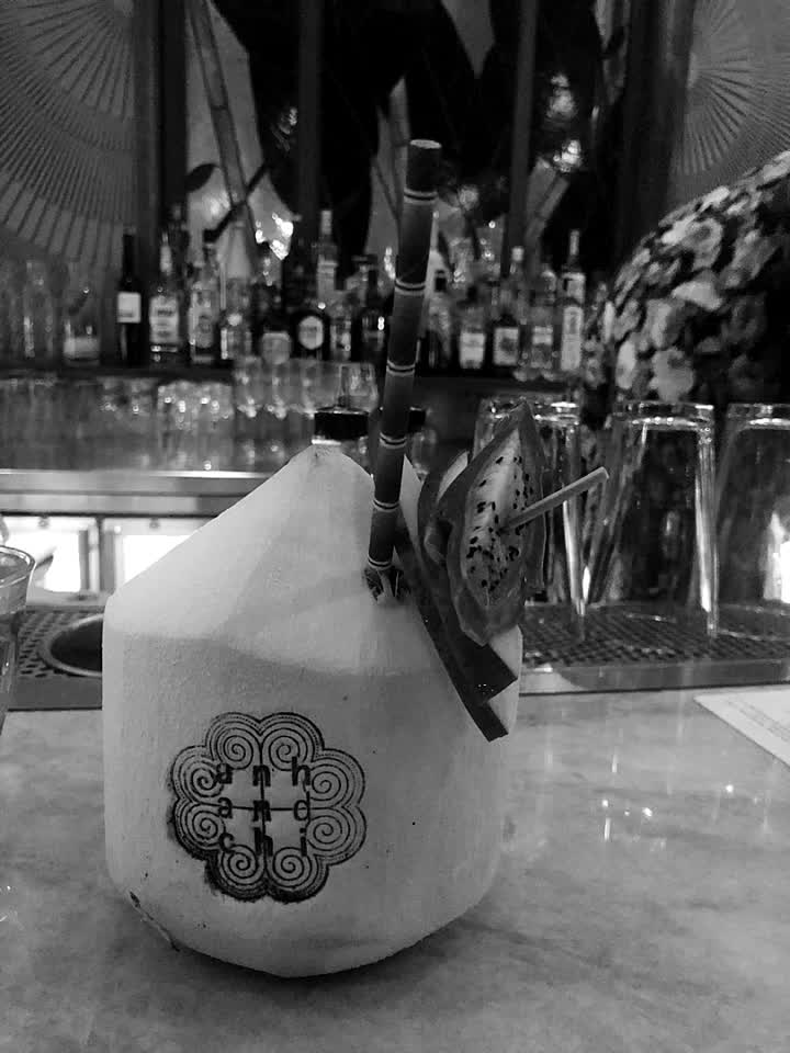 cocktail in a coconut💕 #food #cocktail #explore #vancouver @alfred