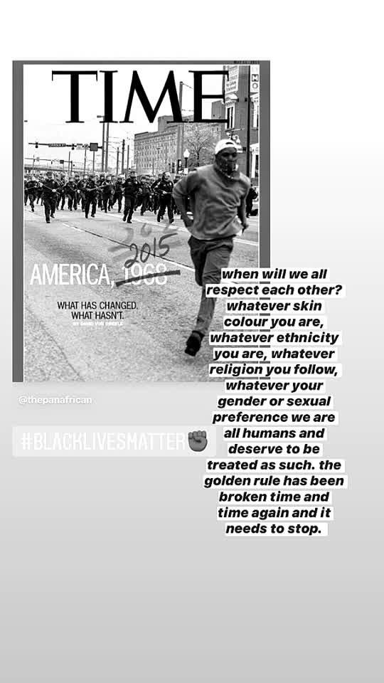 #BlackLivesMatter -having a police badge is not a license for murder.