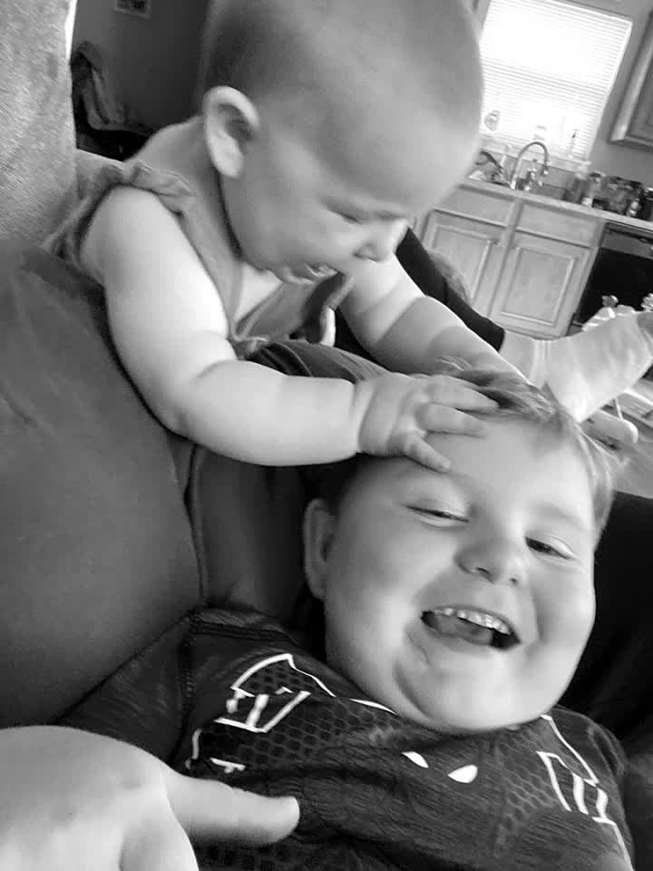 Her first word was bubbbb lol she loves her big brother so much! ❤️ #love #marmy