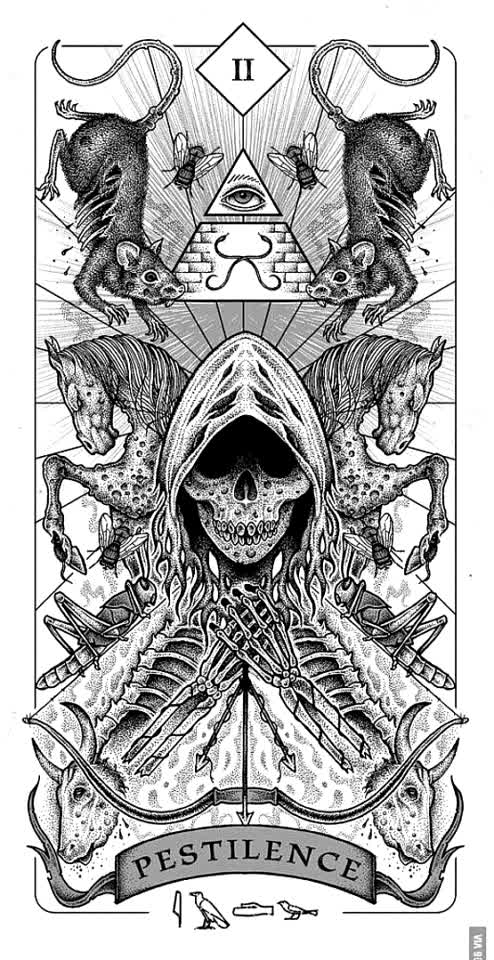 Pestilences tarot card for my OC💙☠️ #tobysarmy #tobyslittlesis