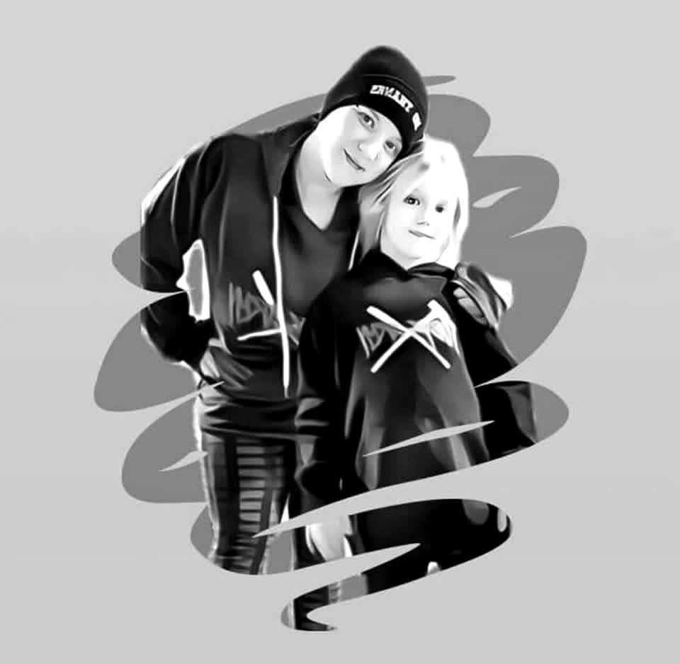 Art made by Simon Lee! Love this of me & Melody #tobysarmy Family forever! #Tobyslittlesis #tiktok