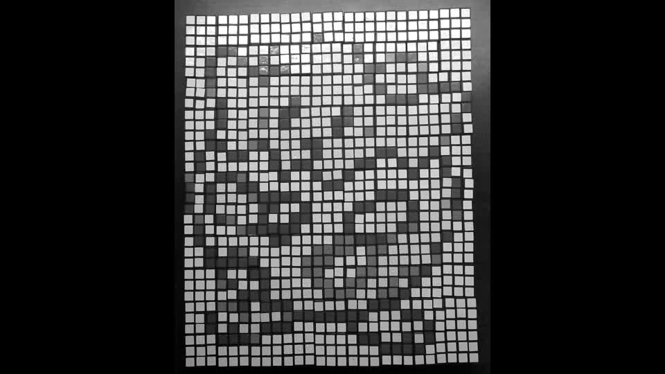 Pokémon made from using 99 Rubik's cubes mosaic art#ejimoo#rubikscube