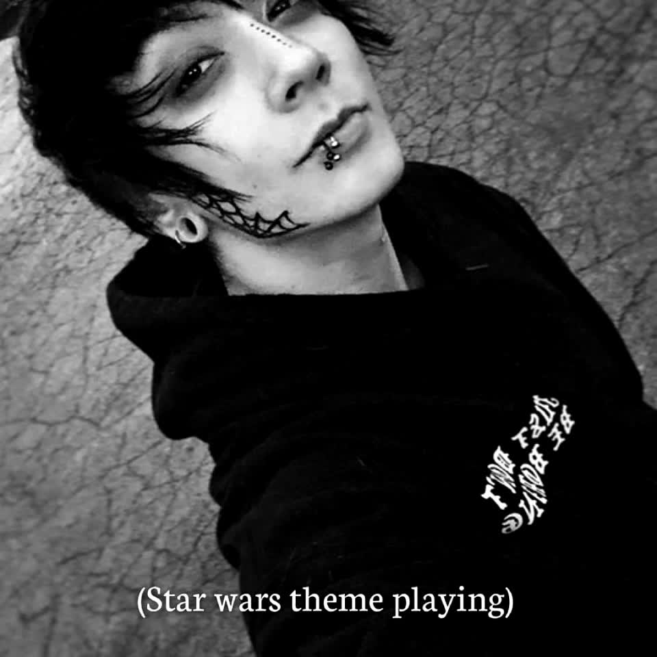 🥀🖤 Cross me if you dare 🖤🥀 #goth #gothboy #gothfashion #tattoo #aesthetic #grunge #eboy #anime