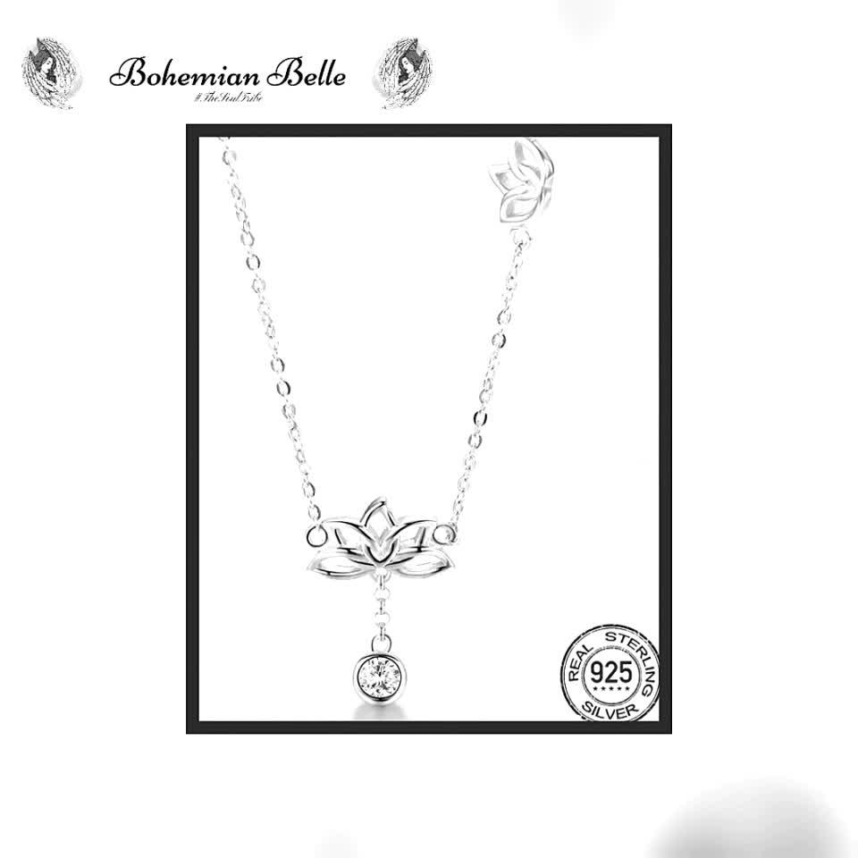 Lotus Flower Necklace  #lotusflower #jewellery #necklace